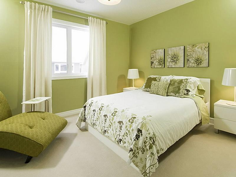 How to decorate bedroom with green colour interior for Bedroom paint ideas green