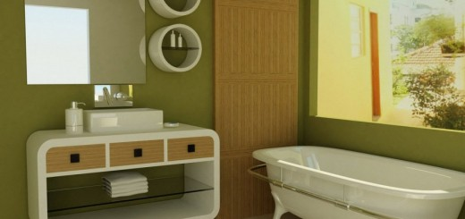 inspirational-green-paint-colors-for-bathroom