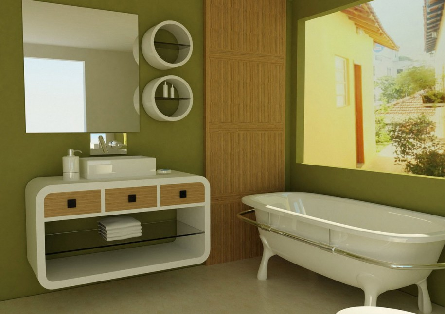 How To Select Paint For The Bathroom Interior Designing Ideas