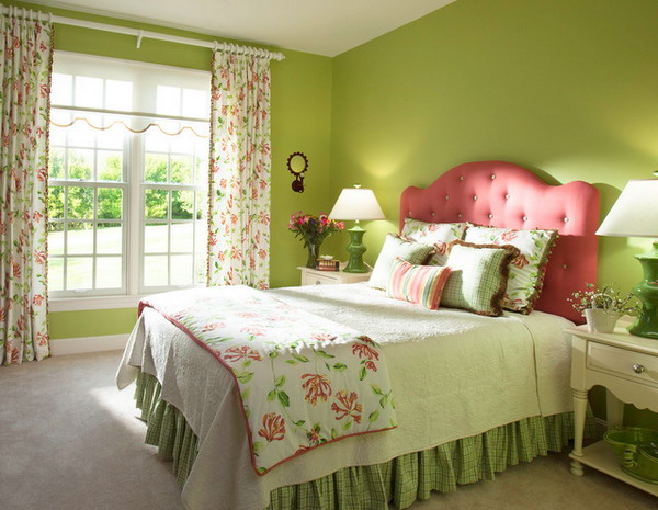 Pleasant Scheme For Luxury Girls Bedroom Design In . Paint Either Trim Or  Walls In Green Colors ...