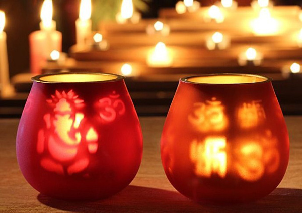 How to decorate home for diwali from waste materials for Home decorations diwali