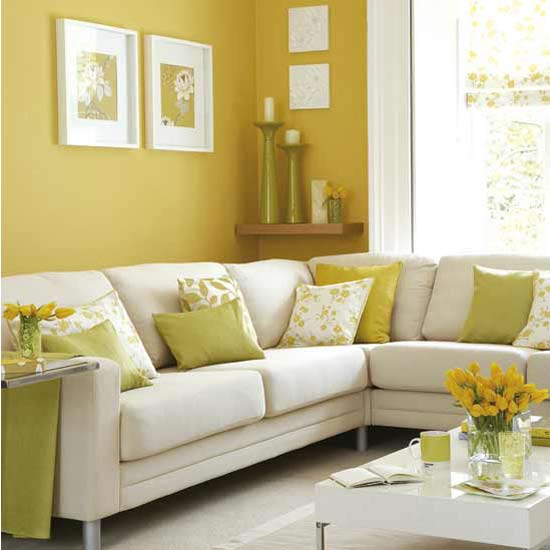 Decorating room with yellow color interior designing ideas - Yellow interior house design photos ...