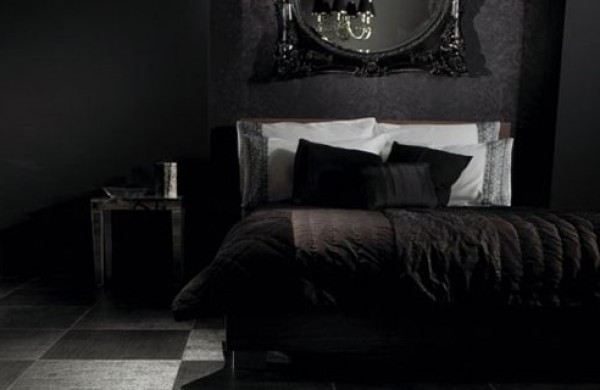 Black Room Design how to know that you have selected wrong paint color?   interior