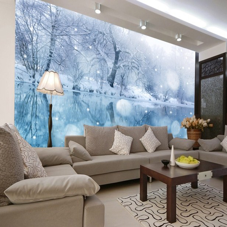 How to d cor home for new year interior designing ideas for Winter wall murals