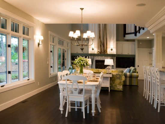 open dining room interior flooring ideas - Open Dining Room