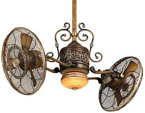steampunk decor Aire Gyro Belcaro Walnut Ceiling Fan