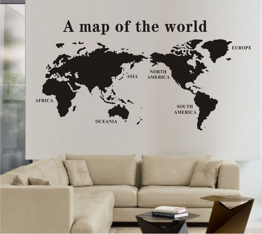 Mural stickers for walls livegoody discount world map wall stickers decal world maps part 83 gumiabroncs Image collections