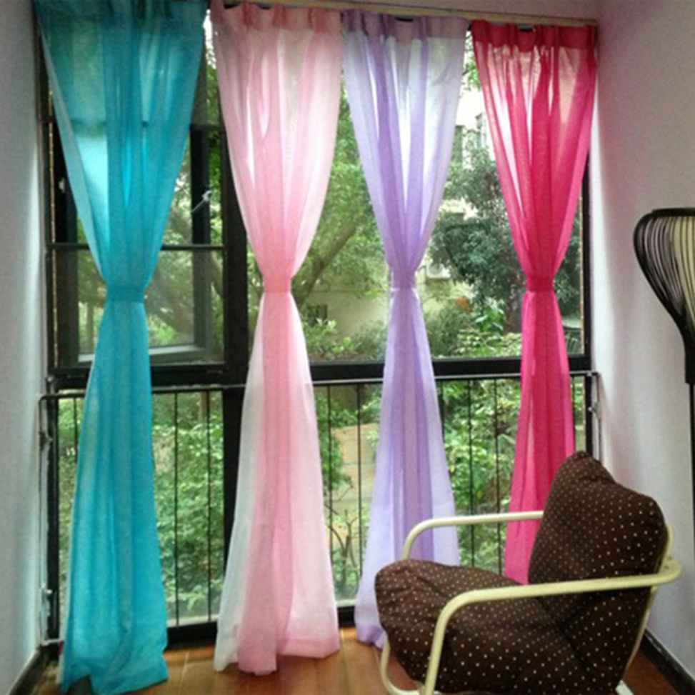 Free-shipping-high-grade-solid-curtains-for-living-room-window-screens-translucent-gauze-fabric-curtains