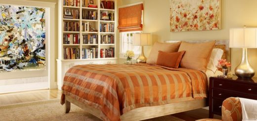 monochromatic-orange-style-bedroom
