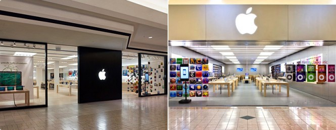Apple s beautiful retail stores interior designing ideas for Apple boutique mural