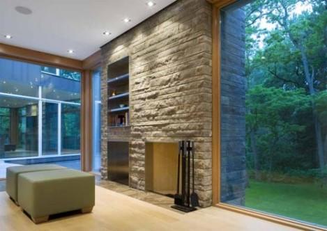 Concrete Walls- Cool Decoration Ideas on Glass House Design Ideas  id=70038