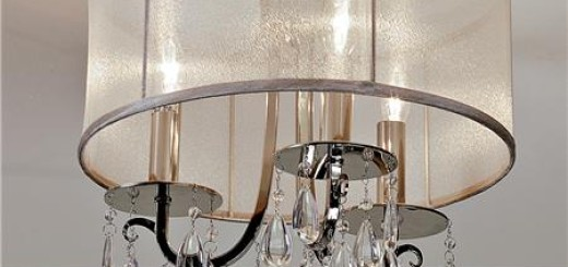 Modern Glam Shaded Crystal Chandelier shades of light