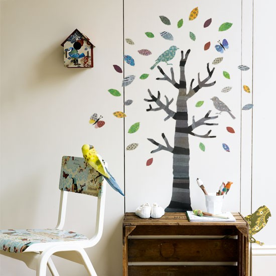 Bird Themed Kid Bed Rooms Interior Designing Ideas