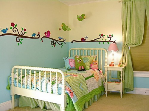 Bird themed kid bed rooms interior designing ideas for Birdcage bedroom ideas
