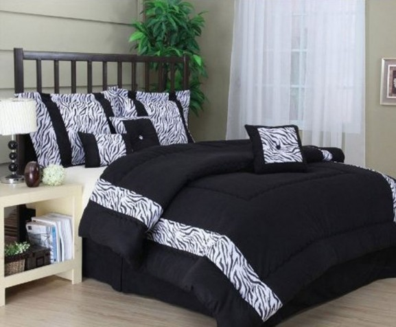 Zebra Bedding Sheet For Bedroom Interior Designing Ideas