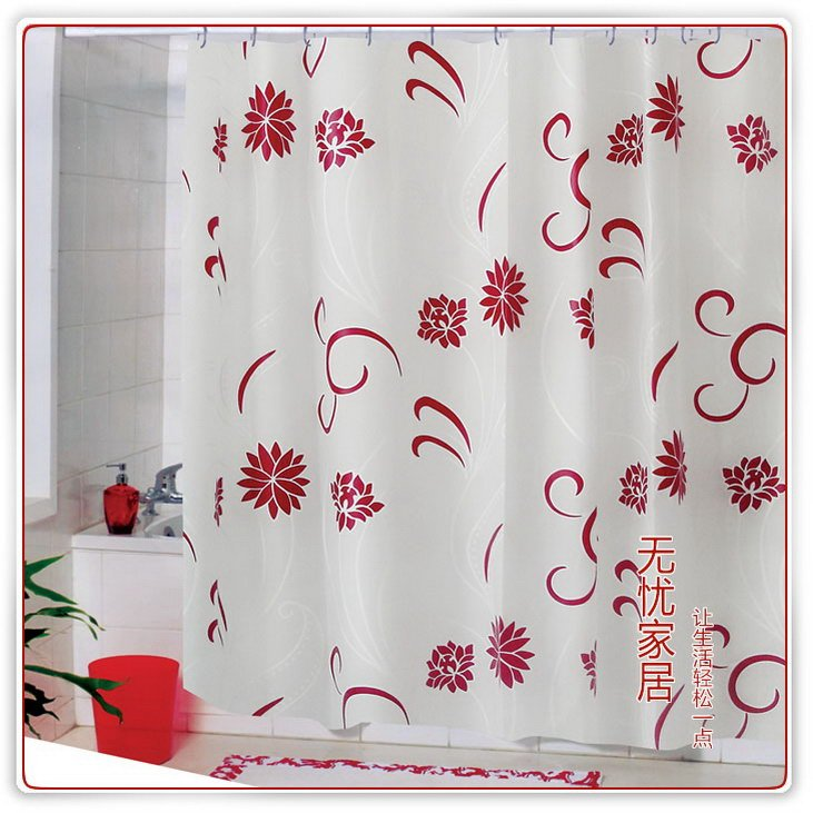 Christmas Shower Curtains Interior Designing Ideas