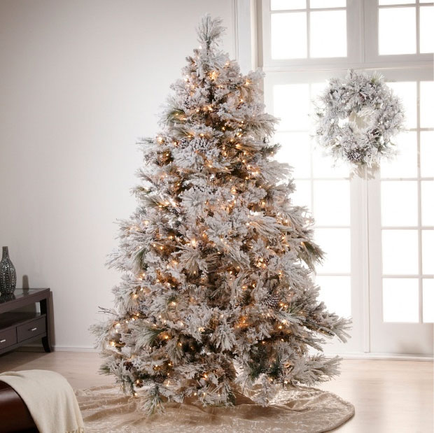 christmas decoration ideas for white tree interior