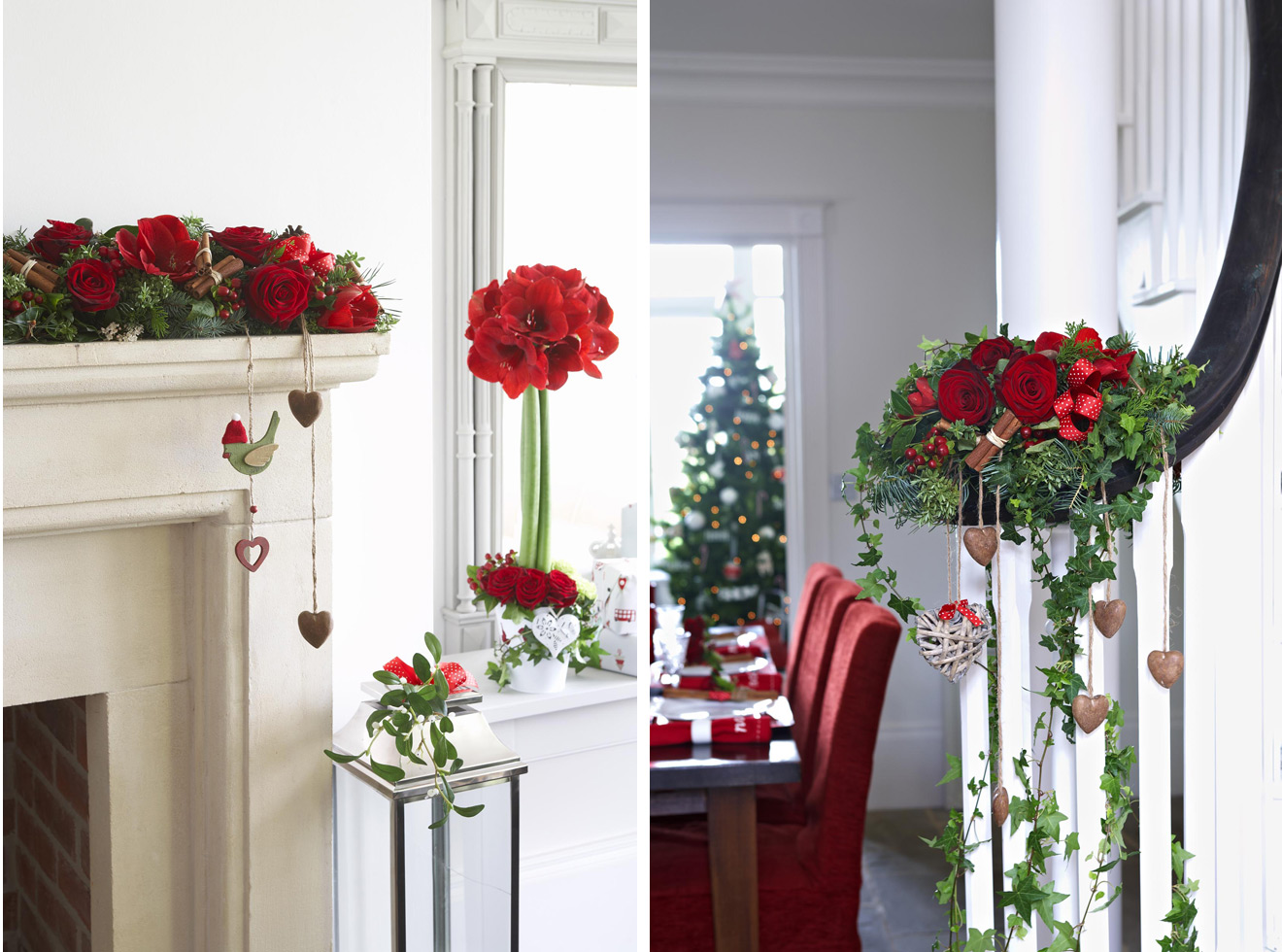 How to d cor your home for christmas interior designing for Floral decorations for home