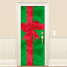 All you need to do is to buy a wrapping paper ribbon and a big bow. Usually it is recommended to buy a red wrapping paper so that it strikes the sun ... & Christmas Door Decorating Ideas | | Interior Designing Ideas