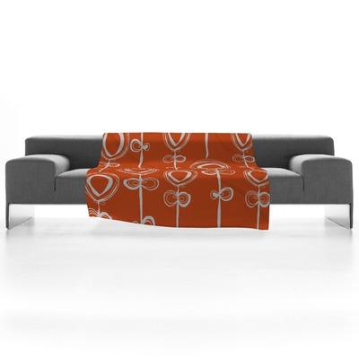 DENY-Designs-Rachael-Taylor-Contemporary-Orange-Fleece-Throw-Blanket