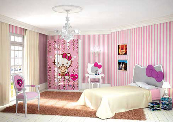 Decorating-Interior-Bedroom-Design-idea-for-girl