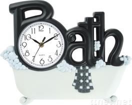 Bathroom wall clocks interior designing ideas for Bathroom clock ideas