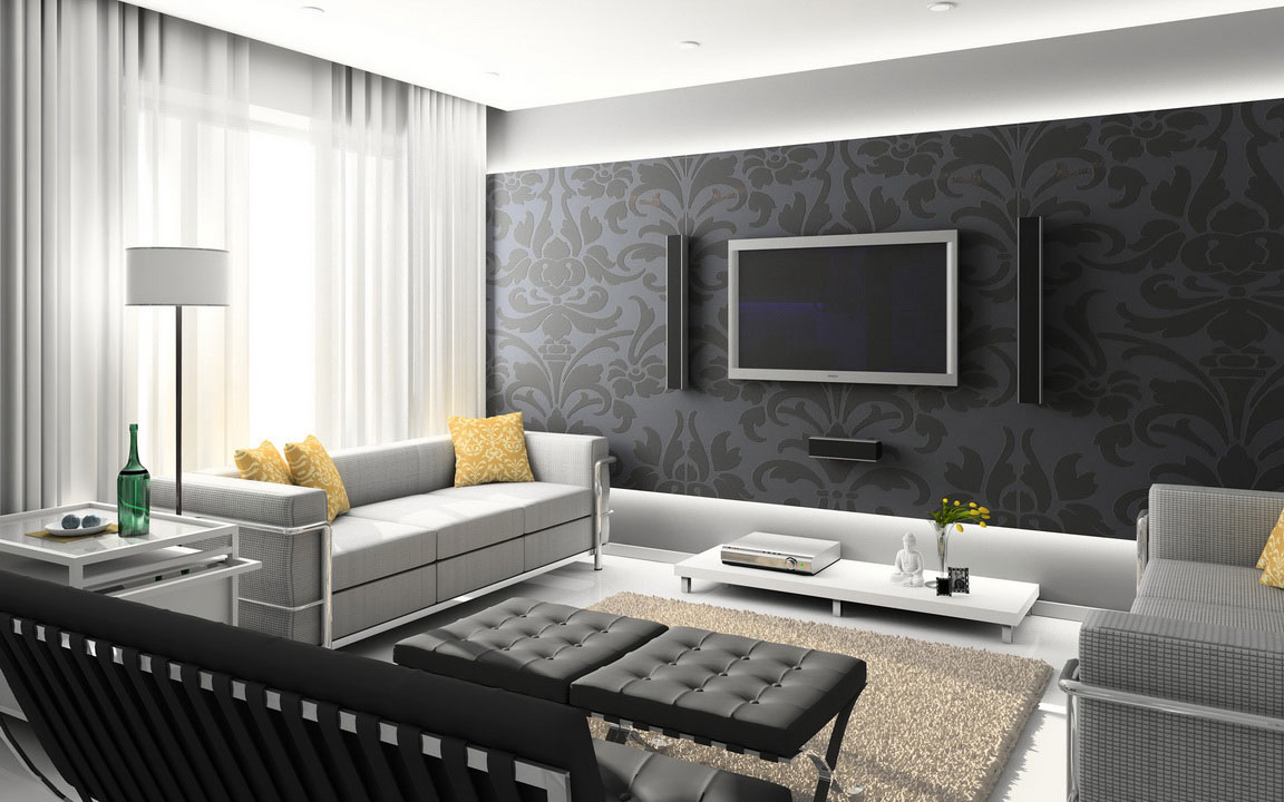 Modern Home Living Room Interior