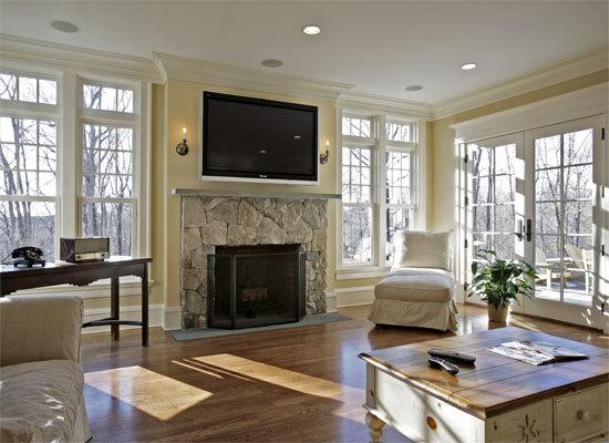 TV flatscreen fireplace