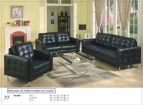 1290184217_139460339_1-Pictures-of--The-Contemporary-black-Bonded-Leather-Sofa-Loveseat-1290184217