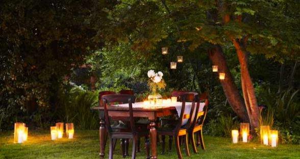 How To Set Up A Garden Dinner Interior Designing Ideas