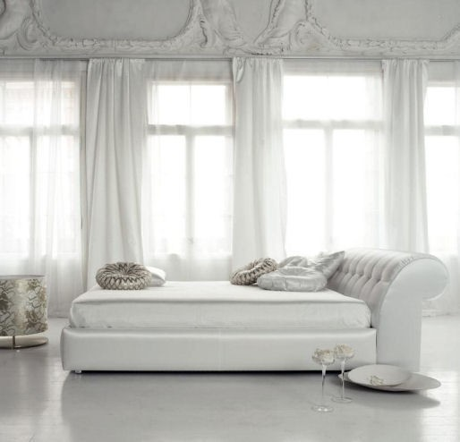 White-contemporary-bed