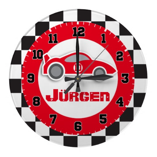 kids_car_red_chequered_flag_name_wall_clock-rba3e5b867c8c42189240559346cee534_fup13_8byvr_512