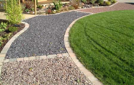 Adding style to your small garden space interior - How to make a garden path with gravel ...