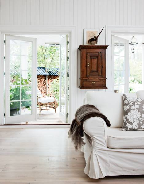 White Country Living Room Decorating Ideas: White Country Style Living Rooms