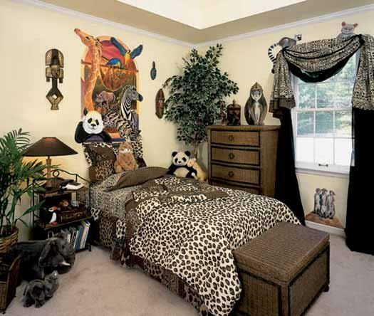 title | Animal Print Tropical Bedroom Ideas