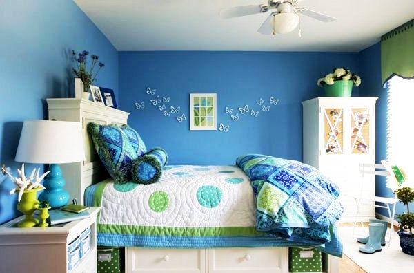 How to decorate blue bedroom for girls | | Interior ...