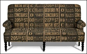 Kravet Bowie Settee In Train Stop-fun furniture travel themed bedroom decorating ideas