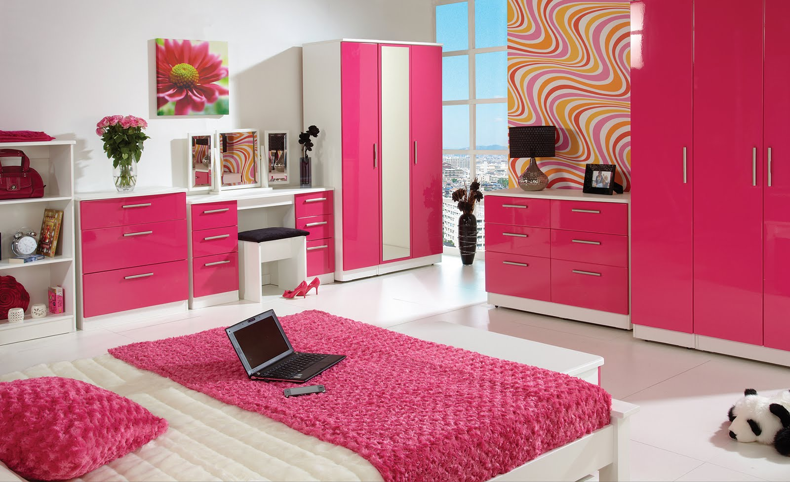 Pink Room Designs Interior Designing Ideas - Latest bedroom designs in pink colour