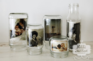 recycled-glass-jar-photo-frames