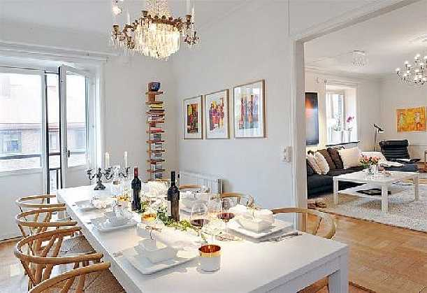 Dining Table At Contemporary Scandinavian Style