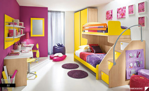 Purple-and-Yellow-Teen-Bedroom