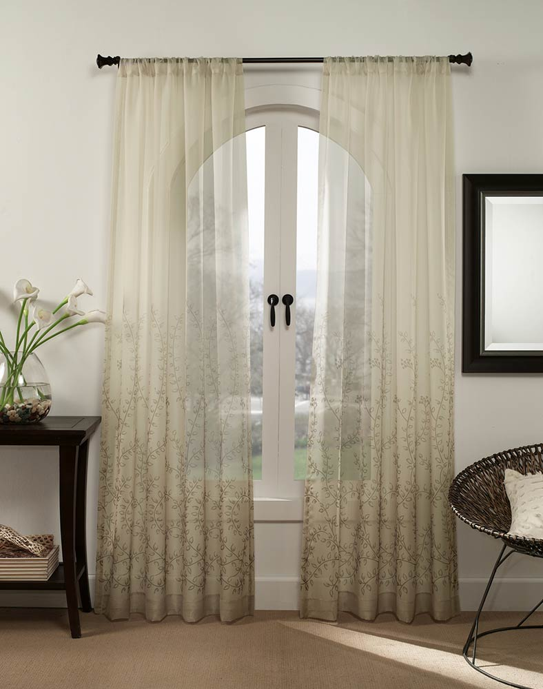 How to facelift the room without painting interior for Painting sheer curtains