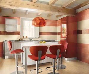 contemporary-orange-kitchen