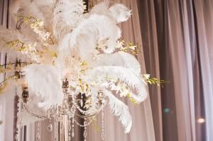 Ostrich feather wedding decoration