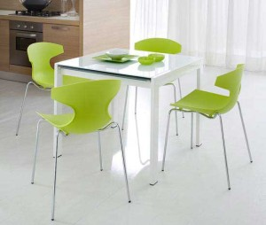small-dining-table-chair-green-color