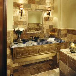 mediterranean-powder-room