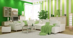 Green Living Room Interior Design-1