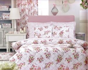 bedroom-interior-design-pink-floral-bedding-sheets