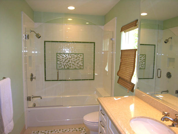 How to design a bathroom interior designing ideas for Green painted bathroom ideas