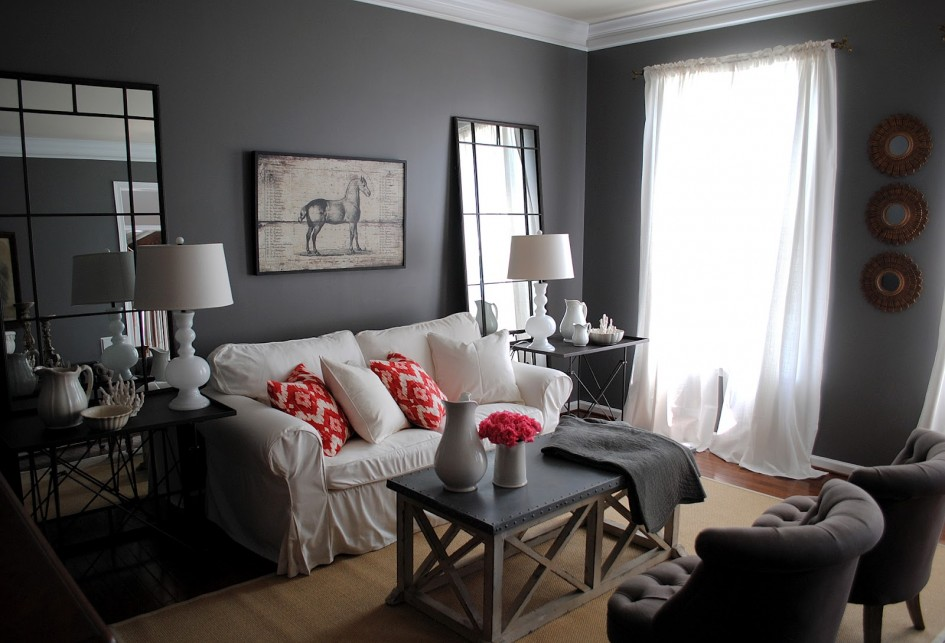 grey-living-room-with-white-couch-and-grey-chairs-also-awesome-white-table-lamp-945x643